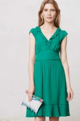 Ruffled Della Dress at Anthropologie