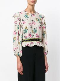 Ruffled Floral Blouse by Red Valentino at Farfetch