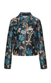 Ruffled Floral Brocade Jacket by Prada  at Prada