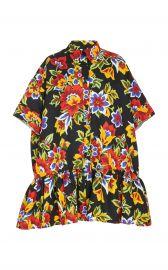Ruffled Floral-Print Cotton And Silk-Blend Dress at Moda Operandi