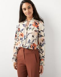 Ruffled Georgette Blouse at RW&Co