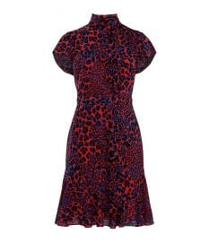 Ruffled Leopard Print Dress by Karen Millen at Karen Millen