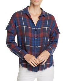 Ruffled Plaid Shirt at Bloomingdales