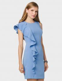 Ruffled-Shoulder Sheath Dress by Dressbarn at Dressbarn