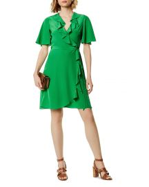 Ruffled Silk Wrap Dress by Karen Millen at Bloomingdales