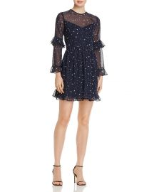 Ruffled Star Print Dress by Aqua at Bloomingdales
