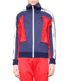 Ruffled Track Jacket by MSGM at Italist