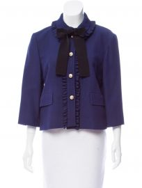 Ruffled Trim Jacket by Gucci at The Real Real
