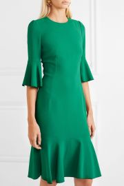 Ruffled cady dress at Net A Porter
