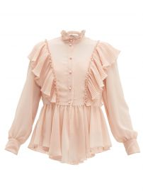 Ruffled georgette blouse at Matches