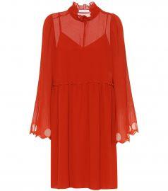 Ruffled georgette dress at Mytheresa
