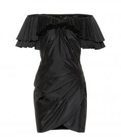 Ruffled silk-blend minidress at Mytheresa