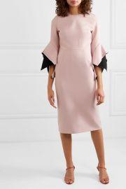 Ruffled two-tone cady midi dress at Net A Porter