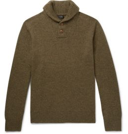 Rugged Merino Wool Blend Shawl Collar Pullover Sweater at Mr Porter