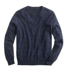 Rugged cotton sweatshirt sweater in hthr indigo at J. Crew