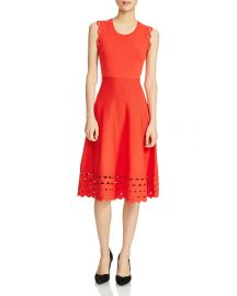 Rumba Perforated Knit Midi Dress by Maje at Bloomingdales