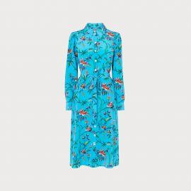 Runa Silk Shirtdress in Turquoise by LK Bennett at LK Bennett