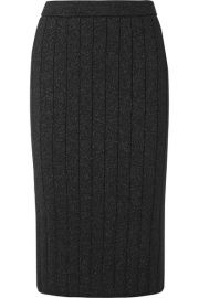 Runway Marc Jacobs - Ribbed stretch-Lurex pencil skirt at Net A Porter