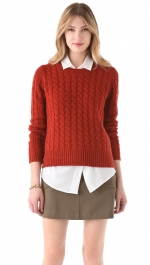 Rust knit sweater from Shopbop at Shopbop