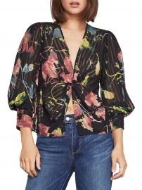 Rustic Grove Twist-Front Blouse by BCBGMAXAZRIA at Macys
