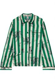 Ruthie striped satin-twill pajama shirt at The Outnet