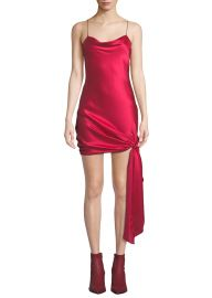Ryder Sleeveless Tie-Hem Satin Dress at Bergdorf Goodman