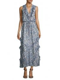 SALONI - Lizzie Ruffled Silk Maxi Dress at Saks Fifth Avenue