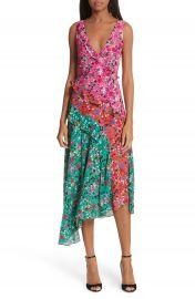 SALONI Aggie Floral Print Silk Dress at Nordstrom
