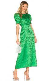 SALONI Bianca Dress in Leaf Green from Revolve com at Revolve