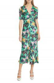 SALONI Eden Floral Print Silk Midi Dress   Nordstrom at Nordstrom