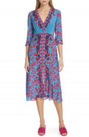 SALONI Eve Floral Print Silk Dress   Nordstrom at Nordstrom