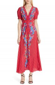 SALONI Lea Print Silk Maxi Dress   Nordstrom at Nordstrom