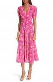 SALONI Lea Silk Midi Dress at Nordstrom