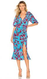 SALONI Olivia Dress in Turquoise Japonica from Revolve com at Revolve