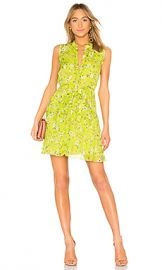 SALONI Tilly Ruffle B Dress in Lime Pimpernel from Revolve com at Revolve