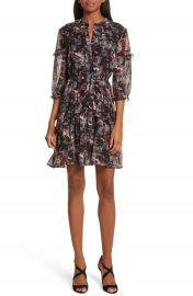 SALONI Tilly Ruffle Silk Dress at Nordstrom