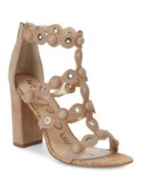 SAM EDELMAN - YULI STUDDED SUEDE AND CORK PUMPS at Saks Off 5th