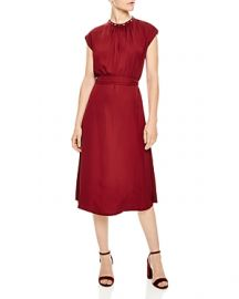 SANDRO CONIQUE EMBELLISHED-COLLAR DRESS at Bloomingdales