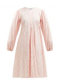 SANDROSE BRODERIE ANGLAISE MIDI DRESS at Matches