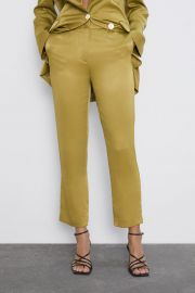 SATIN PANTS at Zara