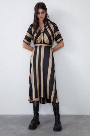 SATIN EFFECT STRIPED DRESS at Zara