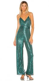 SAYLOR Louisana Jumpsuit in Emerald from Revolve com at Revolve