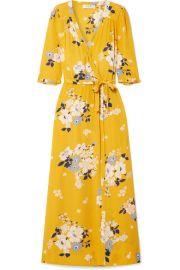 SEA - Pia floral-print crepe de chine wrap dress at Net A Porter