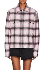 SERVICE PLAID COTTON FLANNEL JACKET SERVICE PLAID COTTON FLANNEL JACKET at Barneys