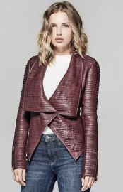 SHAYNA DRAPE LEATHER JACKET guess at Guess