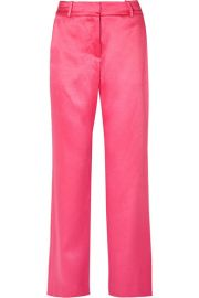 SIES MARJAN - TATUM SATIN STRAIGHT-LEG PANTS - FUCHSIA at Net A Porter
