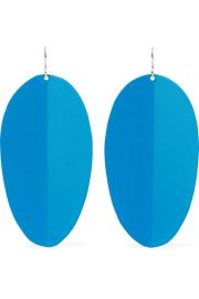 SIMON MILLER - Pedal enamel and silver-tone earrings at Net A Porter