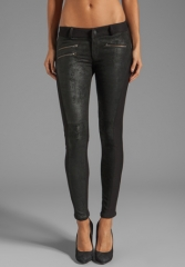 SIWY JEANS Mick Leather Panel Skinny in Crave at Revolve