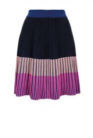 SKIRT IN COLOUR BLOCK KNIT at Pinko