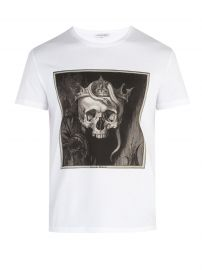 SKULL-PRINT COTTON-JERSEY T-SHIRT | ALEXANDER MCQUEEN at Matches